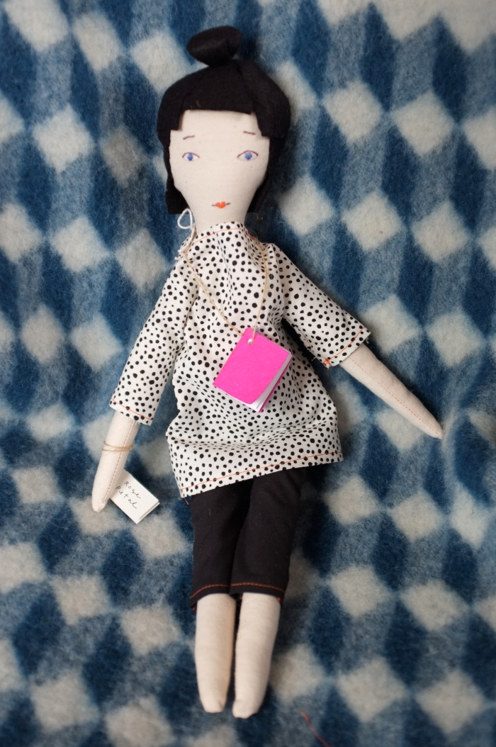 One of a series of rag dolls I created while pursuing my new position, this is the Artful Doll.